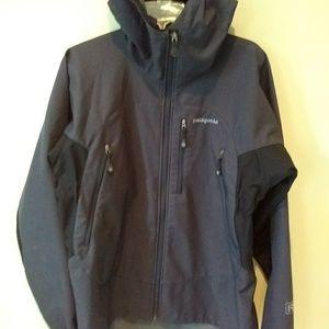 Patagonia Men's Hooded Jacket Gray Black Medium